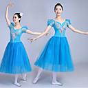 זול הלבשה לריקודי בלט-בלט שמלות בגדי ריקוד נשים הצגה צורני תחרה שמלה