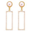 tanie Modne kolczyki-Damskie Geometryczny Kolczyki Perła Kolczyki Klasyczny Vintage Europejskie Elegancja Biżuteria Złoty Na Impreza Prezent Codzienny Ulica Praca 1 para