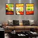 זול אומנות ממוסגרת-דפוס אומנות ממוסגרת סט ממוסגר - L ו-scape בוטני פוליסטירן איור וול ארט
