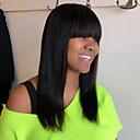 זול ללא מכסה-שיער ללא שיער שיער אנושי ישר / טבעי תספורת שכבות סגנון פשוט / עיצוב אופנתי / חדש שחור בינוני ללא מכסה פאה בגדי ריקוד נשים / כל / פאה אפרו-אמריקאית / לנשים שחורות