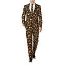 זול קישוטי חתונה-כתום מעוטר גזרה צרה פוליאסטר חליפה - פתוח Single Breasted Two-button