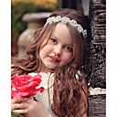 billige Blomsterpike-Baby Jente Grunnleggende / Søt Solblomst Blomstret Blomster stil Blonder Hårtilbehør Sølv En Størrelse