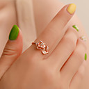 זול Fashion Ring-בגדי ריקוד נשים טבעת פתח את הטבעת 1pc כסף זהב ורד סגסוגת פשוט ארופאי טרנדי Party מתנה תכשיטים ורדים מגניב