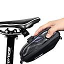 halpa Satulalaukut-0.8 L Pyörän satulalaukku Vedenkestävä Kannettava Sateenkestävä vetoketju Pyörälaukku PU-nahka EVA Pyörälaukku Pyöräilylaukku Pyöräily Pyörä