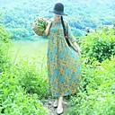 זול שרשרת אופנתית-מידי דפוס, פרחוני - שמלה גזרת A סגנון סיני בגדי ריקוד נשים