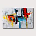 levne Abstraktní malby-Hang-malované olejomalba Ručně malované - Abstraktní Abstraktní krajinka Současný styl Moderní Obsahovat vnitřní rám