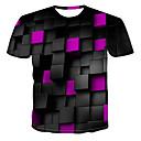 cheap TV Boxes-Men's T-shirt - 3D Print Round Neck Green XXXXL