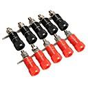 billige Koblinger & Terminaler-10 stk forstærkerklemmer stikforbindelse post banan plug jack mount