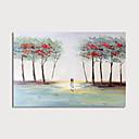 preiswerte Abstrakte Gemälde-Hang-Ölgemälde Handgemalte - Abstrakt Landschaft Modern Fügen Innenrahmen