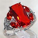povoljno Modno prstenje-Žene Prsten Akvamarin 1pc Crvena Zelen Plava Kamen Stilski Svadba Jewelry Geometrijski Radost Raspoloženje Cool