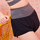 זול בגדי ריצה-בגדי ריקוד נשים # שורט לריצה רץ מכנסיים עם גרבונים נעלי דחיסה חגורה גמישה טלאים מכנסיים קצרים נושם ייבוש מהיר תומך זיעה קולור בלוק / אלסטיין / גיזרה גבוהה