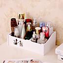 hesapli Takı Kutuları-Depolama organizasyon Kozmetik Makyaj Organizatörü Ahşap Düzensiz şekil Tek katman