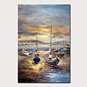 povoljno Apstraktno slikarstvo-Hang oslikana uljanim bojama Ručno oslikana - Pejzaž Apstraktni pejsaži Klasik Vintage Bez unutrašnje Frame