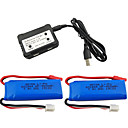cheap RC Parts & Accessories-WLtoys K969 K979 K989 K999 P929 P939 7.4V 550mAh 1 set Battery Quick Charging