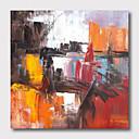 זול ציורים מופשטים-ציור שמן צבוע-Hang מצויר ביד - מופשט נוף אבסטרקט עכשווי מודרני כלול מסגרת פנימית