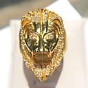 povoljno Muško prstenje-Muškarci Prsten Izjave Kubični Zirconia 1pc Zlato Kamen Imitacija dijamanta Zlato od 14K Geometric Shape Rock Klub Jewelry Vintage Style Lav Cool