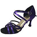 זול נעליים לטיניות-בגדי ריקוד נשים נעלי ריקוד PU נעליים לטיניות Paillette עקבים עקב רחב מותאם אישית חום / ירוק / אדום כהה / הצגה / עור / אימון