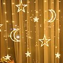 זול מברג-3.5m פיה מחרוזת אורות כוכב הירח צורה 134 מדים חם לבן מסיבת חג המולד בבית דקורטיבי 220-240 v 1 סט