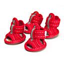 זול אדים Atomizers-כלבים נעליים ומגפיים סנדלים רשת עבור חיות מחמד כותנה / פוליאסטר גוּמִי אדום / קיץ
