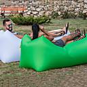 hesapli Erkek Gömlekleri-Hava Koltuğu Şişme Koltuk Şişme Yatak Tasarım-İdeal Kanepe Açık hava Kamp Su Geçirmez Taşınabilir Nemgeçirmez Oxford 260*70 cm Kamp & Yürüyüş Kumsal Seyahat için 1 Kişi Bahar Yaz Sonbahar Yeşil Mavi