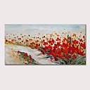 Недорогие Картины с цветочными мотивами-Hang-роспись маслом Ручная роспись - Цветочные мотивы / ботанический Абстрактные пейзажи Modern Включите внутренний каркас