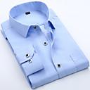 hesapli Erkek Gömlekleri-Erkek İnce - Gömlek Fırfırlı, Solid Temel Havuz