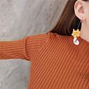 tanie Modne kolczyki-Damskie Geometryczny Kolczyki sztyfty Kolczyki Kwiat Natutalne Tropikalny Kolorowy Biżuteria Ciemnożółty Na Prezent Święto 1 para