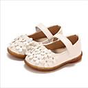 halpa Lasten sandaalit-Tyttöjen Tekonahka Tasapohjakengät Vauvoilla (0-9m) / Taapero (9m-4ys) Kengät kukkaistytölle Valkoinen / Punainen / Pinkki Kesä