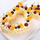 זול כלים לאפייה-3pcs פלסטי חג האהבה Cake עוגות Moulds כלי Bakeware