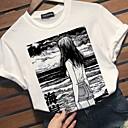 halpa Crossbody-laukut-Naisten Ohut Geometrinen T-paita Valkoinen