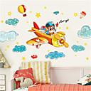 halpa Seinätarrat-söpö lasten huone poika makuuhuone sisustus sarjakuva lentokone seinä tarra lastentarha luokkahuone seinä itseliimautuva maalaus