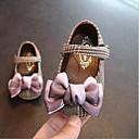 זול Kids' Flats-בנות נעליים לילדת הפרחים כותנה שטוחות תינוקות (0-9m) / פעוט (9m-4ys) שחור / ורוד קיץ