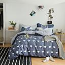 halpa Kukka pussilakanoiksi-Pussilakanasetti setit Geometrinen / Moderni Puuvilla Printed 4 osainenBedding Sets