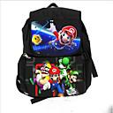 levne Dětské tašky-Chlapecké Zip Školní taška Plátno Černá
