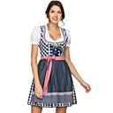 hesapli Oktoberfest-Kasım Festivali üstü dar altı geniş elbise Trachtenkleider Kadın's Elbise Bavyera Kostüm Havuz YAKUT