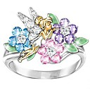 זול תכשיט לקרסול-בגדי ריקוד נשים טבעת הצהרה טבעת זירקונה מעוקבת 1pc קשת אבני חן וקריסטל נחושת Geometric Shape מסוגנן פאר Party מתנה תכשיטים פרח מגניב
