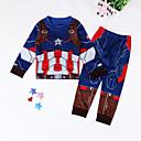 זול בגדי ריקוד לילדים-סט של בגדים כותנה שרוול ארוך דפוס סגנון רחוב בנים ילדים