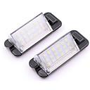 זול מנורות ערפל לרכב-2pcs 18smd הוביל מספר לוחית רישוי אורות עבור bmw e36 318i 328i m3