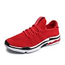 זול נעלי ספורט לגברים-בגדי ריקוד גברים אור סוליות PU / בד גמיש אביב קיץ ספורטיבי נעלי אתלטיקה נושם שחור / אפור / אדום