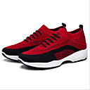 זול מוקסינים לנשים-בגדי ריקוד נשים פוליאסטר אביב נעלי אתלטיקה שטוח בוהן עגולה שחור / סגול / אדום
