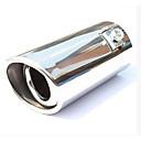 זול רכב הגוף קישוט והגנה-51mm קוטר מפרצון נירוסטה מלוכסן צינור פליטה צעיף השתנה זנב הגרון a2x