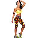 זול ביגוד כושר, ריצה ויוגה-בגדי ריקוד נשים מכנסי יוגה פס ריצה כושר וספורט כושר אמון 3/4 טייץ 3/4 קפרי מכנסיים לבוש אקטיבי פתילת לחות סטרצ'י (נמתח) סקיני