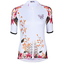 cheap Cycling Jersey & Shorts / Pants Sets-ILPALADINO Women's Short Sleeve Cycling Jersey White Floral Botanical Bike Jersey Top UV Resistant Moisture Wicking Quick Dry Sports Elastane Terylene Road Bike Cycling Clothing Apparel