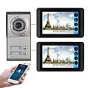olcso Videó kaputelefonok-618mc12 7 hüvelykes kapacitív érintőképernyős videokamera vezetékes videó ajtócsengő wifi / 3g / 4g távoli hívás feloldása tároló vizuális intercom két hálószoba