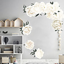 halpa Seinätarrat-valkoiset kauniit kukat seinä tarroja - sanoja& ampamp quotes seinä tarroja merkkiä opiskeluhuone / toimisto / ruokailuhuone / keittiö