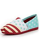 זול סניקרס לנשים-בגדי ריקוד נשים קנבס קיץ יום יומי נעליים ללא שרוכים שטוח בוהן עגולה כחול בהיר