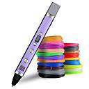 voordelige 3D-printerbenodigdheden-myriwell 1.75mm abs / pla diy 3d pen geleid scherm, usb opladen 3d drukpen creatief speelgoed cadeau voor kinderen ontwerp