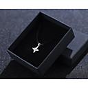זול סט תכשיטים-בגדי ריקוד נשים כסף זירקונה מעוקבת שרשראות תליון זירקון כסף 36 cm שרשראות תכשיטים 1pc עבור חתונה יומי