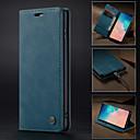 זול כיסויי שולחן-במקרה caseme עבור Samsung galaxy s10 5g רטרו פו עור להעיף ארנק במקרה הטלפון הגנה מלאה כיסוי קשה עם מעמד מוצק צבע עור pu