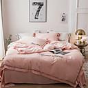 povoljno Čvrsta poplune-Poplun Cover Sets Jednobojni Poly / Cotton Yarn Dyed 4 komadaBedding Sets